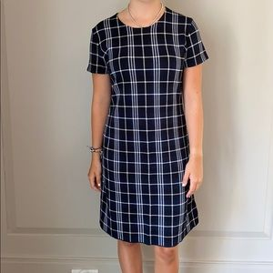 Black and White Plaid Theory Dress